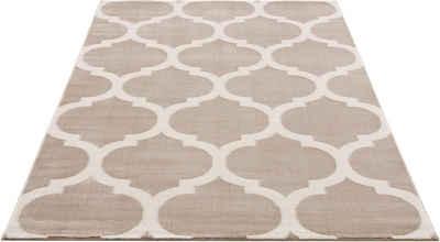 Teppich »Fenris«, Home affaire, rechteckig, Höhe 12 mm, mit handgearbeitetem Konturenschnitt, Wohnzimmer