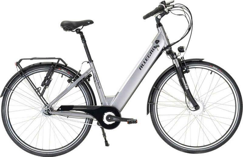 ALLEGRO E-Bike »Comfort Plus 03 Silver«, 7 Gang Shimano, Nabenschaltung, Frontmotor 250 W