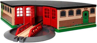 BRIO® Spielzeugeisenbahn-Gebäude »BRIO® WORLD Großer Ringlokschuppen«, FSC® - schützt Wald - weltweit