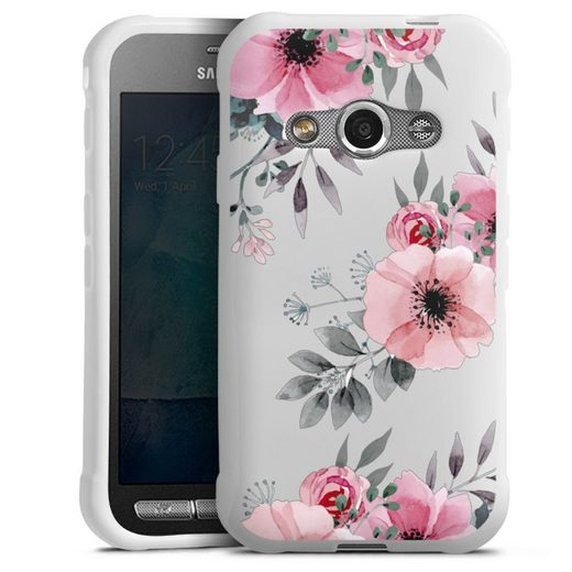 DeinDesign Handyhülle »Blumen rosa ohne Hintergrund« Samsung Galaxy Xcover 3, Hülle Blume transparent Blumen