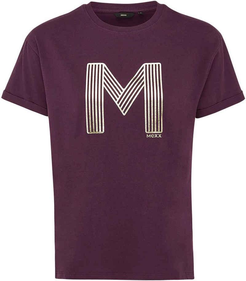Mexx T-Shirt mit Metallic-Print