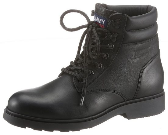 TOMMY JEANS »CLASSIC TOMMY JEANS LACE UP BOOT« Schnürboots mit Profillaufsohle