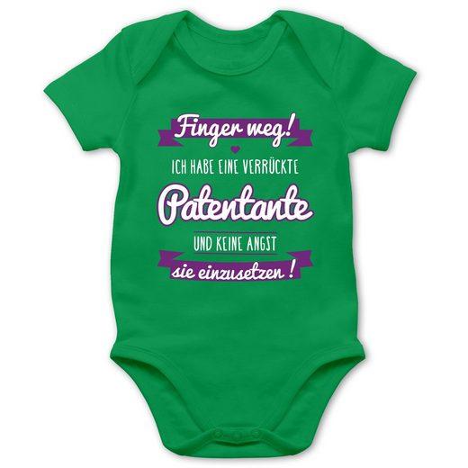 Shirtracer Shirtbody »Ich habe eine verrückte Patentante lila - Baby Body Kurzarm - Strampler & Bodies« Sprüche Baby