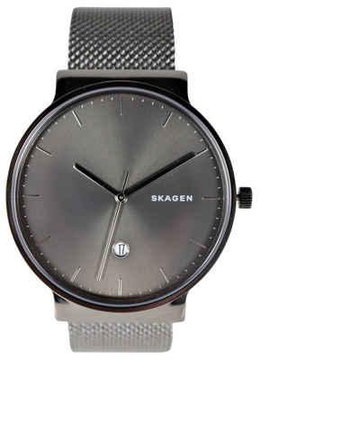 Skagen Quarzuhr »SKAGEN Herren Armbanduhr Uhr SKW6432 Ancher Titan Milanaisearmband grau«