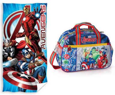 The AVENGERS Sporttasche »Marvel´s The Avengers - Sporttasche und Badetuch« (Reißverschluss, Jungen), Geringes-Gewicht