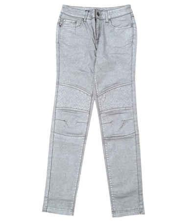 TUZZI Regular-fit-Jeans »TUZZI Party-Jeans schimmernde Damen Ausgeh-Hose im 5-Pocket-Style Freizeit-Hose Silber«