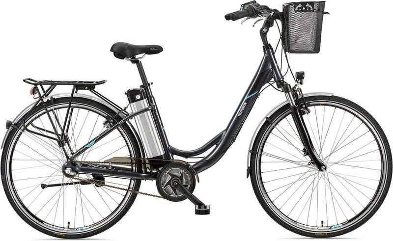 Telefunken E-Bike »Multitalent RC865«, 3 Gang Shimano Nexus Schaltwerk, Nabenschaltung, Mittelmotor 250 W, mit Fahrradkorb