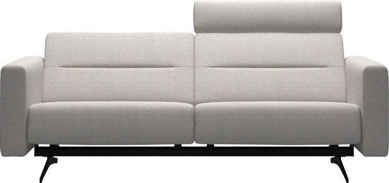 Stressless® 2,5-Sitzer »Stella«, mit Zwischennaht im Rücken, Armlehnen S2, Fuß Mattschwarz, Breite 215 cm
