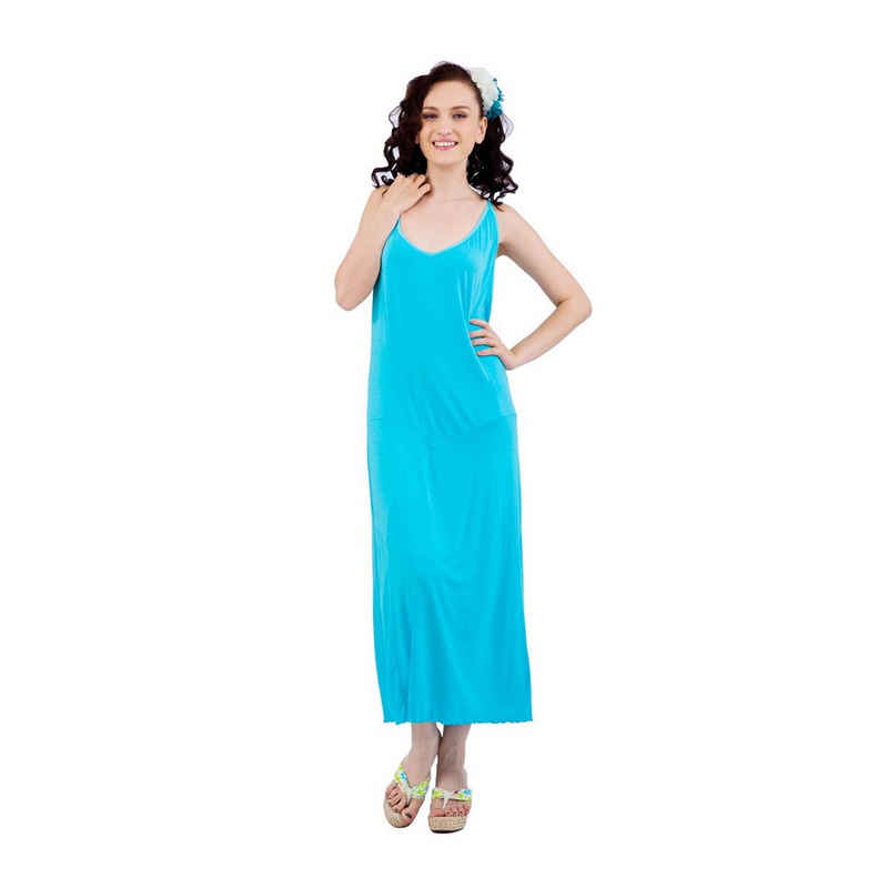 RAIKOU Nachthemd »RAIKOU Damen Kleid Dress Freizeitkleid Hauskleid Elegante Strandkleid Lang Schlafhemd Nachthemd Nachtkleid Casual Schleuderkleid Hausmantel Ärmellos« bequem zu tragen