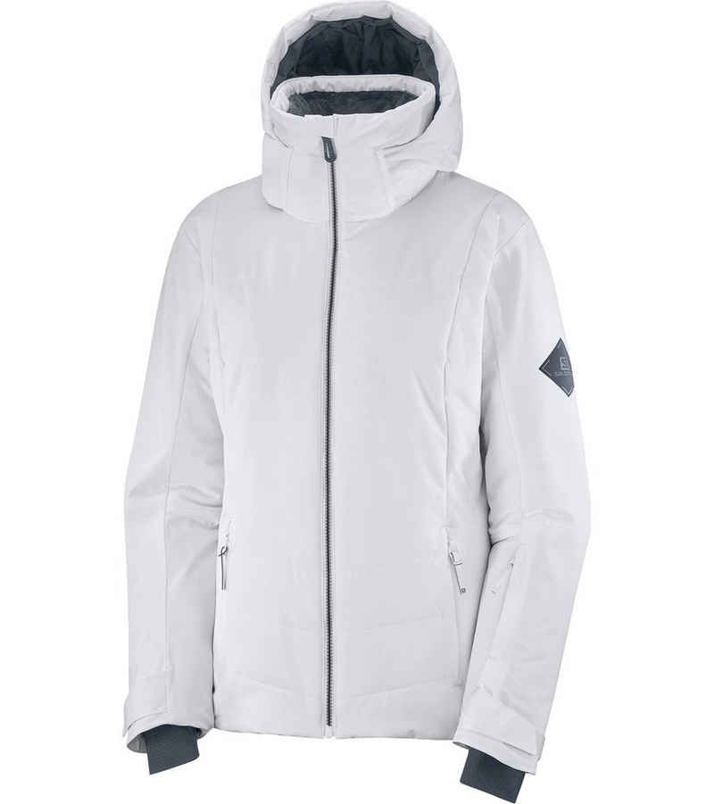 Salomon Skijacke »Salomon Previal Snowboard-Jacke urbane Damen Ski-Jacke Winter-Jacke Weiß/Schwarz«