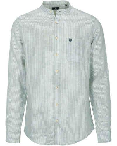BASEFIELD Hemd »Stehkragen-Leinenhemd«