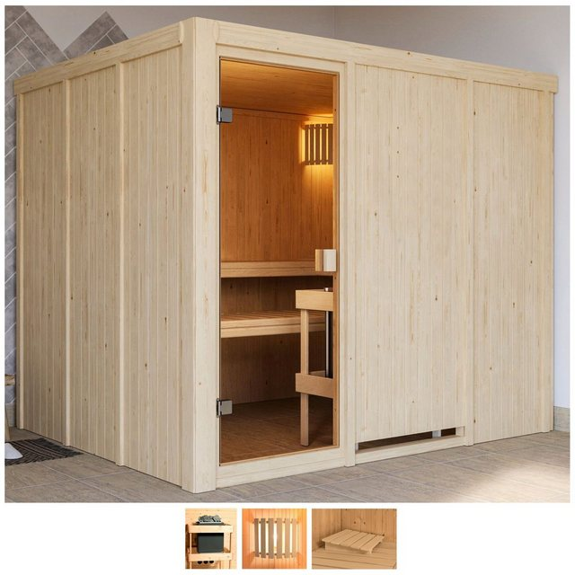 Saunen und Zubehör - Karibu Sauna »Nando«, BxTxH 231 x 196 x 198 cm, 68 mm, ohne Ofen  - Onlineshop OTTO