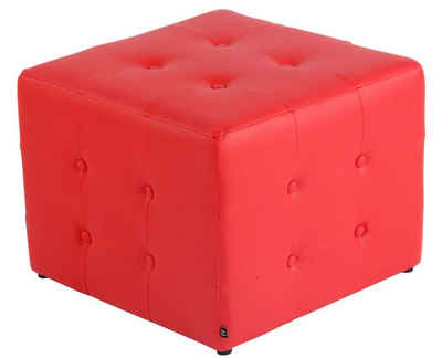 CLP Sitzwürfel »Cubic Kunstleder«, stylisch gesteppter Sitzbezug