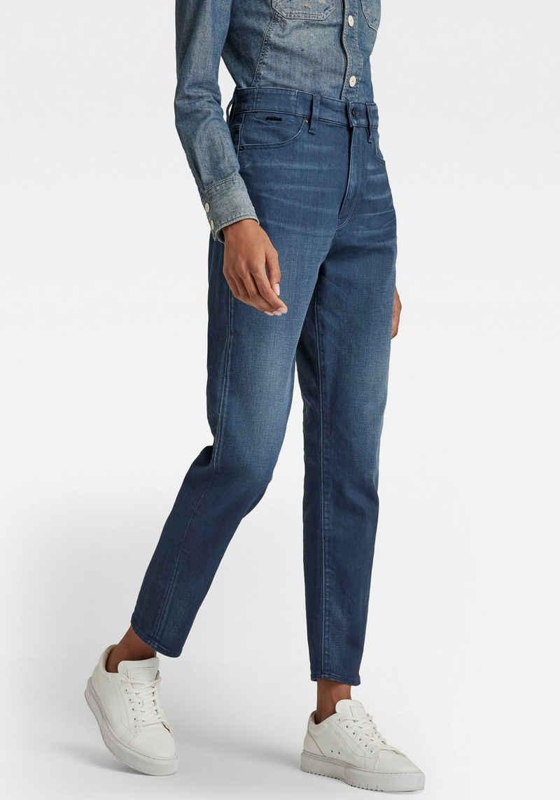G-Star RAW Straight-Jeans »Janeh Ultra High Mom Ankle Jeans« mit abgerundeter Passe hinten für einen femininen Look