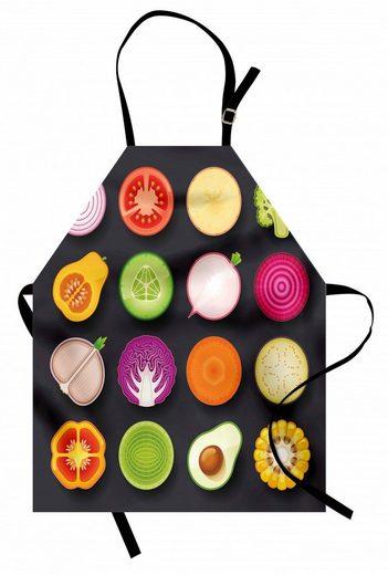 Abakuhaus Kochschürze »Höhenverstellbar Klare Farben ohne verblassen«, Gemüse Vegane Ernährung Küche
