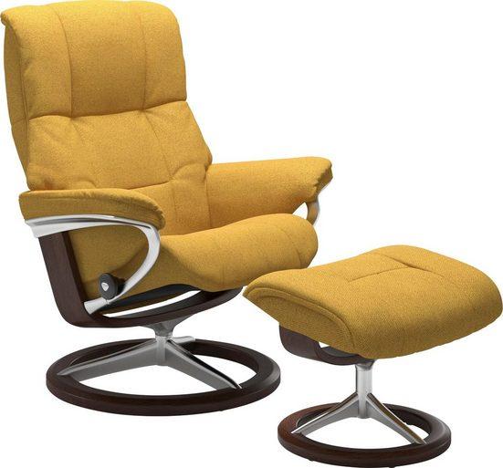 Stressless® Relaxsessel »Mayfair« (Set, 2-tlg., Relaxsessel mit Hocker), mit Hocker, mit Signature Base, Größe S, M & L, Gestell Braun