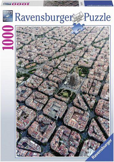 Ravensburger Puzzle »Puzzle 1000 Teile, 70x50 cm, Barcelona von Oben«, Puzzleteile