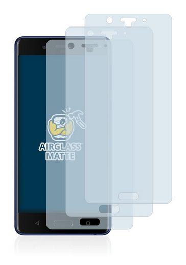 BROTECT Schutzfolie »Panzerglasfolie für Nokia 8«, (3 Stück), Schutzglas Glasfolie matt