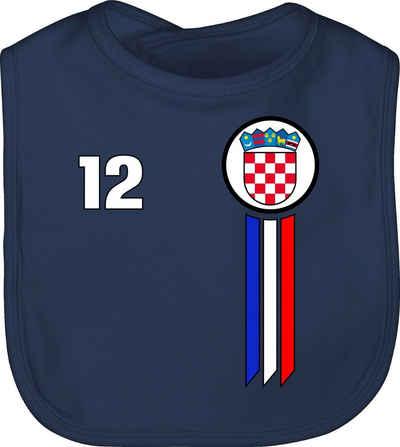 Shirtracer Lätzchen »12. Mann Kroatien Emblem - Fussball EM 2021 Baby - Baby Lätzchen Baumwolle«, Europameisterschaft Fanartikel Trikot
