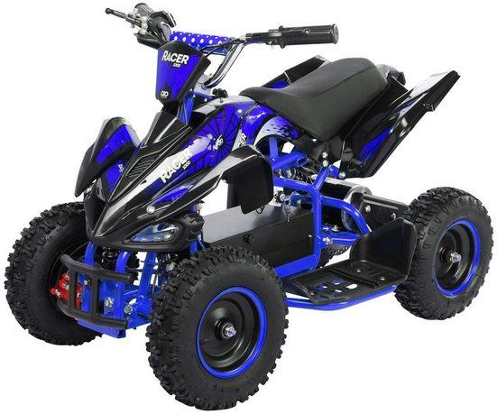 Actionbikes Motors Elektro-Kinderquad »Racer«, Belastbarkeit 50 kg, 3 Geschwindigkeitsstufen, Starker 1000 Watt Elektromotor, Gelochte Scheibenbremse vorne und hinten