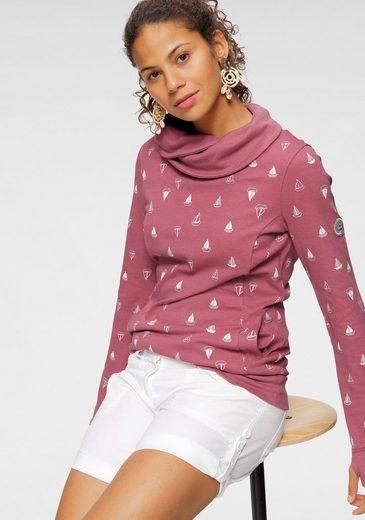 KangaROOS Sweatshirt mit wärmendem Schlauchkragen und Allover-Print