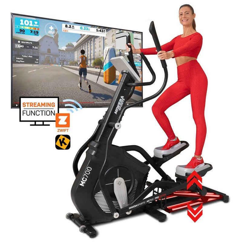 Miweba Sports Crosstrainer »MC700«, Streaming App - 30 kg Schwungmasse - Magnetbremse - Pulsmessung