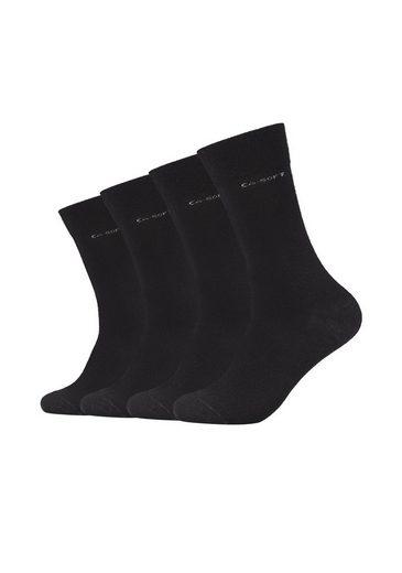 Camano Socken »Mika« (4-Paar) ca-soft 4er Pack Bund ohne Gummidruck