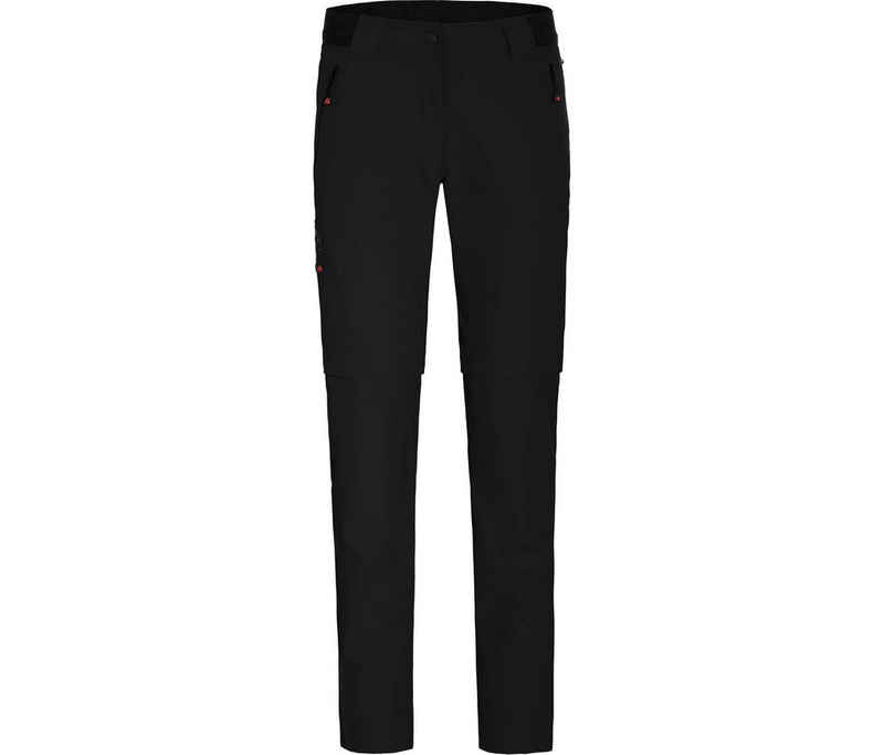 Bergson Zip-off-Hose »VIDAA COMFORT Zipp Off (slim)« Damen Wanderhose, leicht strapazierfähig, Normalgrößen, schwarz