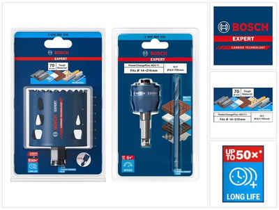 Bosch Professional Lochsäge »Bosch EXPERT Tough Material Lochsägen Starter Set 70 x 60 mm Carbide (2608900434) Universal + Power Change Adapter (2608900526)«