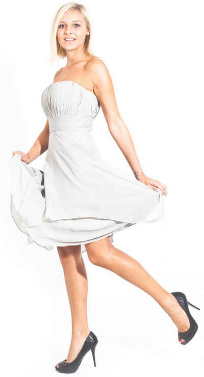AvaMia Cocktailkleid »AvaMia-Kleid4599« AvaMia, Cocktailkleid, Festliches Chiffon Abendkleid, Chiffonkleid, Kleid, Hochzeitkleid, Festtagskleid, Festtagsmode knielang