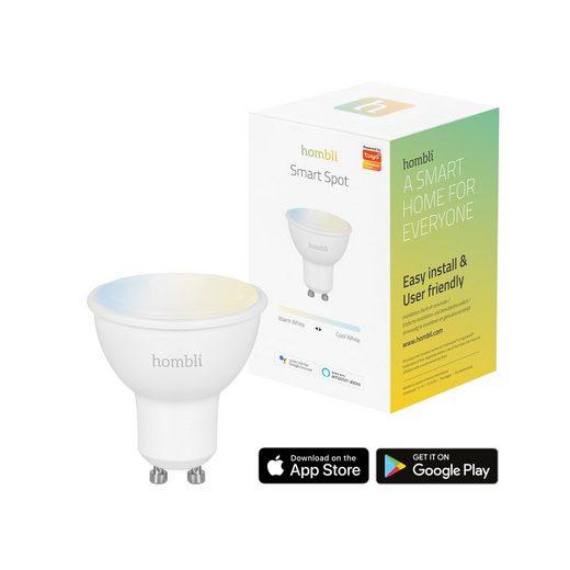 Hombli »Smart Bulb« Smarte LED-Leuchte, GU10, A+, CCT, 4,5W, dimmbare Smart-Beleuchtung, Kompatibel mit Alexa, Google Home und Siri, kostenlose Smart Home App