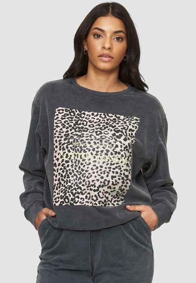 Cotton Candy Sweatshirt »KOZA« mit tollem Leo-Print