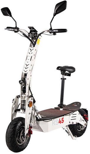 eFlux E-Scooter »RS45 Elektroroller«, 2000 W, 45 km/h, E-Scooter mit Straßenzulassung