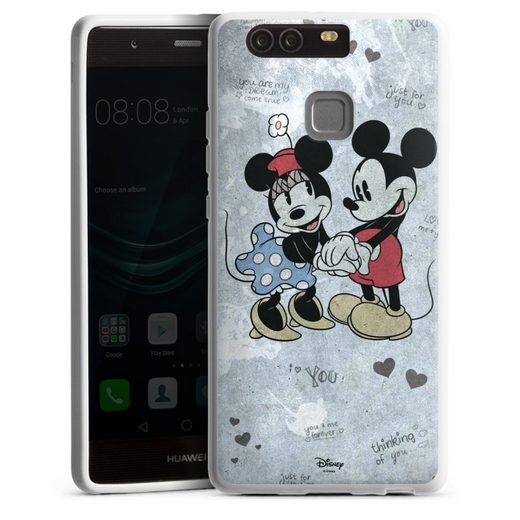 DeinDesign Handyhülle »Mickey&Minnie In Love« Huawei P9, Hülle Offizielles Lizenzprodukt Minnie Mouse Mickey Mouse