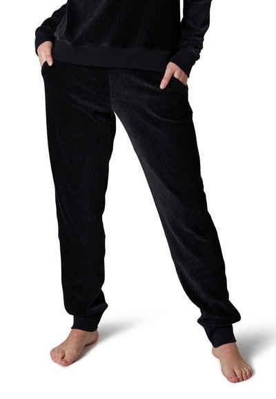 Skiny Pyjamahose »Skiny Damen Homewear Hose« (1-tlg) Cord Optik