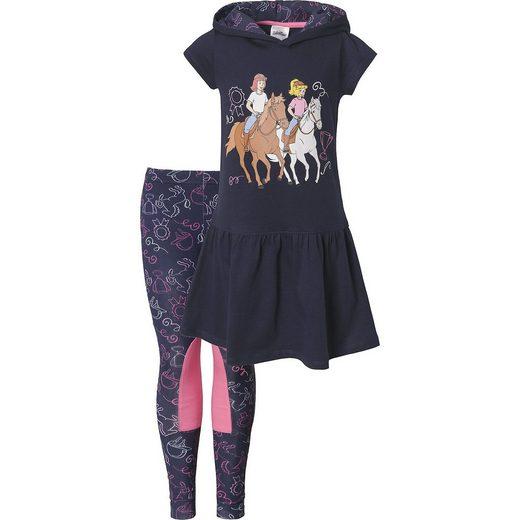 Bibi&Tina Set Kapuzenkleid und Leggings für Mädchen