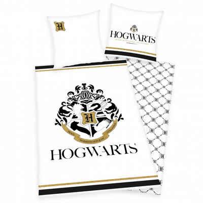 Bettwäsche »Harry Potter (weiß/gold)«, Herding