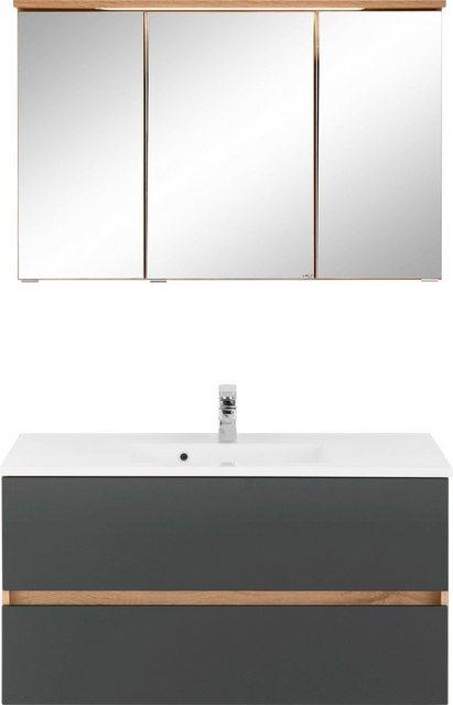 HELD MÖBEL Badmöbel-Set »Lucca«, (2-tlg), Breite 100 cm, mit direkter Beleu günstig online kaufen