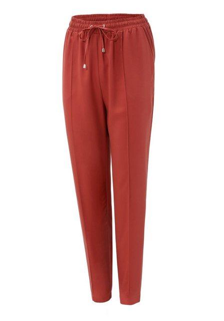 Hosen - Aniston CASUAL Schlupfhose mit Bundfalte › rot  - Onlineshop OTTO