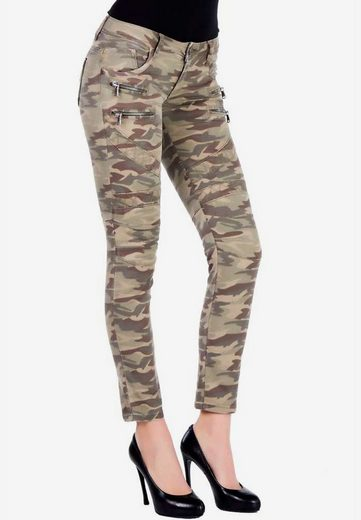 Cipo & Baxx Slim-fit-Jeans in aufregendem Military-Design