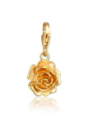 Nenalina Charm-Einhänger »Anhänger Rose Blume Floral Romantisch 925 Silber«, Rose
