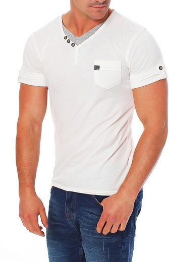 Miracle of Denim T-Shirt »TS 657« kleine Brusttasche