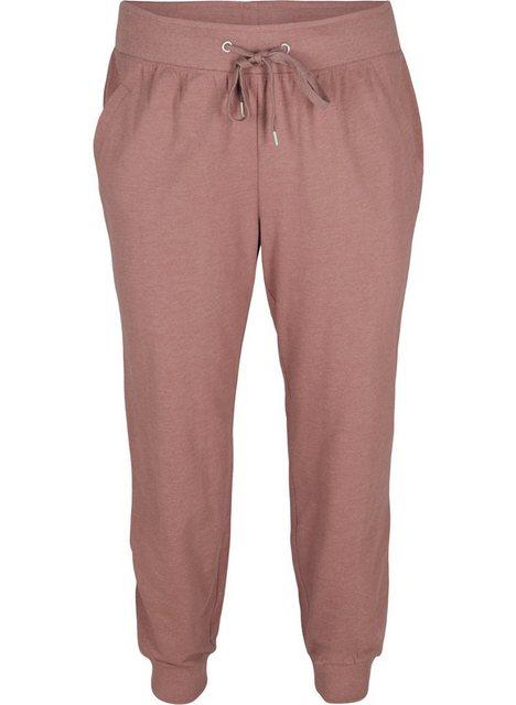 Hosen - Active by ZIZZI Sweathose Große Größen Damen Sweatpants mit Taschen, Kordelzug und Ripp › rot  - Onlineshop OTTO