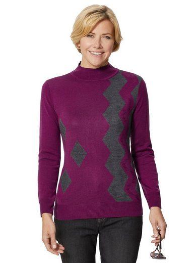 Classic Basics Pullover mit aufwändigem Intarsien-Muster