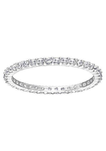 Swarovski Fingerring »Vittore, weiss, rhodiniert, 5007778, 5007779, 5007780, 5007781, 5028227«, mit Swarovski® Kristallen