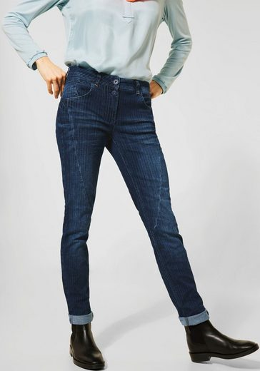 Cecil Slim-fit-Jeans »Charlize« mit Nadelstreifen