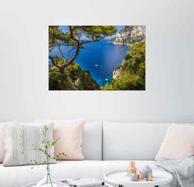 Posterlounge Wandbild, Traumhafter Meerblick in Capri (Italien)