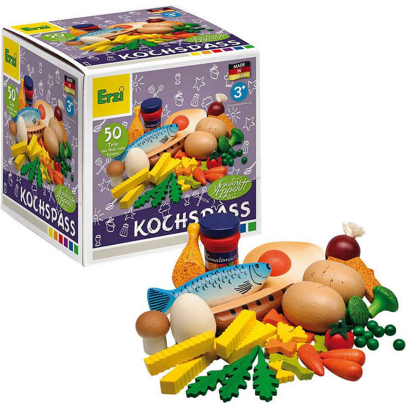 Erzi® Spiellebensmittel »Spiellebensmittel Kochsortierung aus Holz«