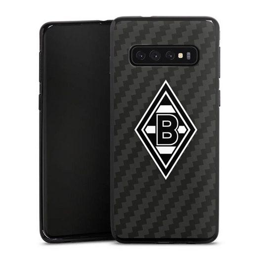 DeinDesign Handyhülle »Borussia Raute Carbon« Samsung Galaxy S10 Plus, Hülle Gladbach Borussia Mönchengladbach Carbon