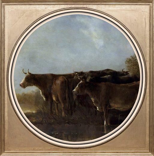 queence Acrylglasbild »Kühe«